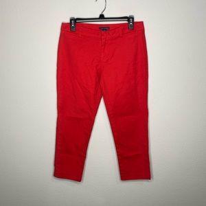 Tommy Hilfiger Red Capri Pants Size 4